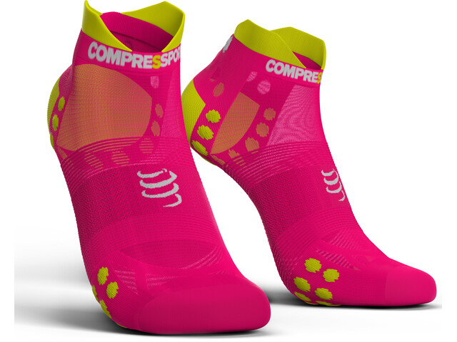 Compressport Pro Racing V3.0 UItralight Run Low Socks Fluo Pink